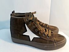 Via Pinky Womens High Top Lace Up Flat Fashion Sneaker Ankle Shoe green size 7