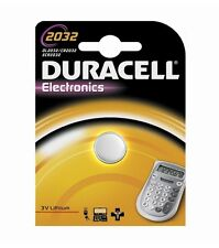 DURACELL BATTERIA CR2032 PILA BOTTONE A LITIO 3V DL2032/CR/BR2032
