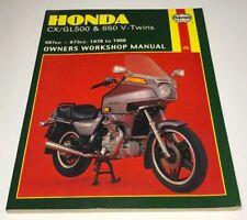 HAYNES Repair Manual - Honda CX/GL500 & 650 V-Twins 497cc & 673cc (78-86)
