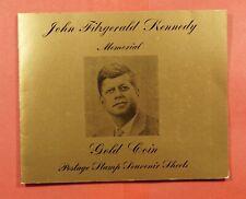 2 IMPERF RAS AL KHAIMA JFK JOHN F KENNEDY MEMORIAL GOLD FOIL + FOLDER MNH