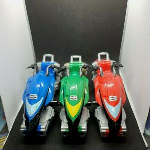 Power Rangers Operation Overdrive Blue Green Red Hovertek Cycles Bandai 2007