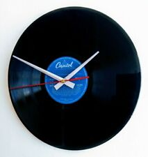 More details for frank sinatra 12 inch record lp wall clock with silver hands unique gift