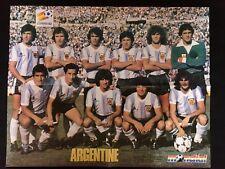 POSTER MUNDIAL 82 - ARGENTINE MARADONA - LAKHDAR BELLOUMI ARGERIE ARGELIA