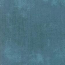 Moda Fabric Grunge Cabana, Sold Per 1/4 Metre, Blue Quilting Fabric