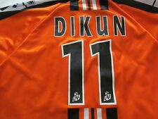 DIKUN 11 FC LORIENT BRETAGNE SUD French Football /soccer Orange Jersey Men's 2XL