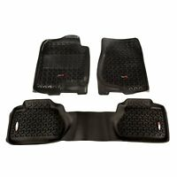 Front Floor Liner Mats Gray for Ford F150 Super Crew 04-08 84902.01 Rugged Ridge