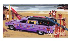 "Heavenly Hearse Jo-Han Model Box Art Poster /Print 18"" x 12"" Free US Shipping"