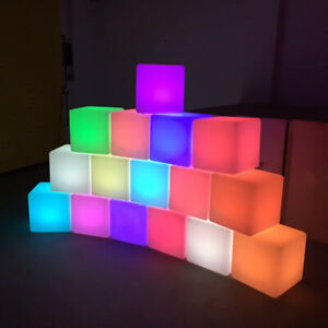 LED Cube Rechargeable Light 16-Color and Remote Control for In&Outdoor