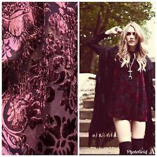 Designer Rayon Burnout Velvet Fabric - Antique Wine- By The Yard