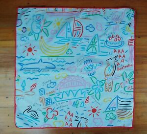 Ken Done Collection Scarf, Handkerchief, Bandana - Sydney, Harbour Bridge
