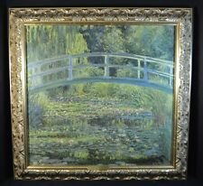 Claude Monet Waterlilies and Japanese Bridge Art Reproduction on Canvas