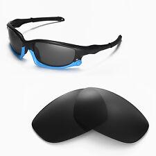 New Walleva Polarized Black Lenses For Oakley Split Jacket