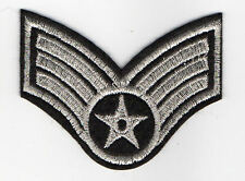 US Army Staff Sergeant silberfarben Aufnäher United States Army USA Armee Patch