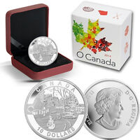 2014 O Canada 1/2 oz Silver $10 -  Holiday Scene