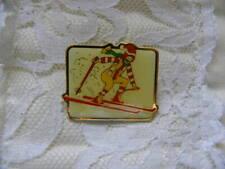Vintage Ronald McDonald Downhill Skiing Lapel Pin Pinback Employee McDonalds