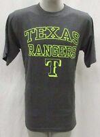 Texas Rangers Men's Big & Tall MT-6XL 'Lights Out' Graphic T-Shirt MLB Gray A14