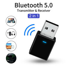 USB Bluetooth V5.0 Transmitter & Receiver Wireless A2DP Audio 3.5mm Aux Adapter