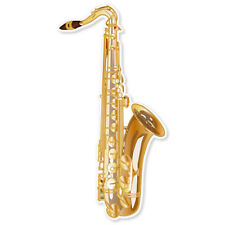 "Saxophone musical instrument band sticker 3"" x 6"""