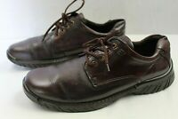 ECCO MENS CASUAL/DRESS LACE UP SHOES SIZE 12 MEDIUM BROWN LEATHER UPPER