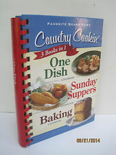 Country Cookin' 3 Books In 1, One Dish, Sunday Suppers & Baking Cookbook