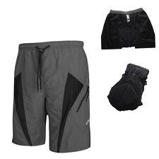 SANTIC Mens Padded Baggy Cycling Shorts Bicycle Loose Short Pants S--XXXL Gray