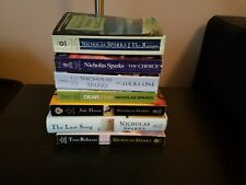 Nicholas Sparks Lot of 7 Romance Novels Mixed Paperback And Hard Cover