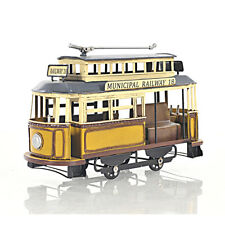 Trolley Streetcar Municipal Railway Cable Car Metal Scale Model 10.5
