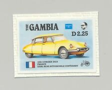 Gambia #625, Automobiles, Citroen D519 1v imperf chromalin proof mounted