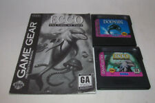 Ecco the Dolphin (Sega Game Gear, 1993) & Tides of Time w/ Instruction Manual VG