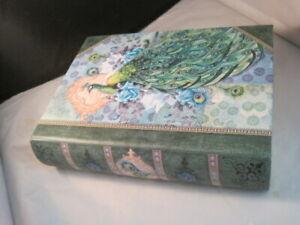 NWT Peacock Faux Book Storage Box