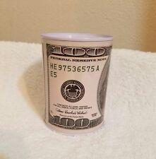 $100 DOLLAR BILL TIN Piggy Bank  METAL COIN MONEY BANK *Ben Franklin * Saving