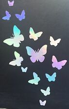 Butterfly Group Rainbow Holographic Vinyl Car Decal Sticker Laptop 09-75