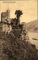 Trechtingshausen AK Burg Rheinstein ungebraucht um 1910 alte Postkarte Rhein