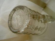 """Beau verre ANCIEN  ancien décor en relief  """"chien de chasse """" XIXème - RARE"""