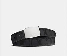 NWT COACH MEN DRESS PLAQUE CUT-TO-SIZE REVERSIBLE SIGNATURE PVC BELT F64828 $150