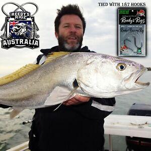 5x 6/0 Pack Reedy's Sucide Beak Hooks 187 Fishing Snapper Sharp Mulloway