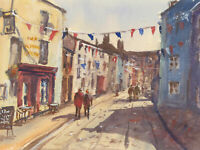 John A. Case - Contemporary Watercolour, Frome Street Scene