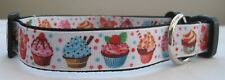 Cupcake dog collar or lead handmade puppy cute cakes multi colour sweet