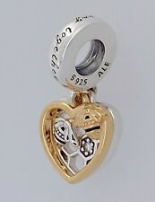 PANDORA Shine 18k Gold Hearts & Bees We Beelong Together Charm Pendant 768838C01