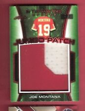 JOE MONTANA LEAF 2018 Leaf JUMBO GAME USED JERSEY PATCH CARD #d3/3 49ers IN GAME