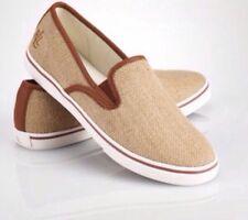 Lauren Ralph Size 6 Women's Lauren Burlap Janis Sneaker Shoe