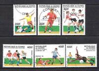 Fútbol Guinea (74) serie completo 6 sellos matasellados