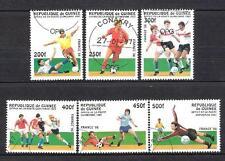 Football Guinée (74) série complète 6 timbres oblitérés