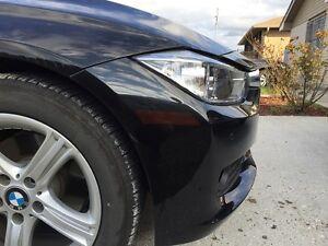 12-16 BMW F30 3 SERIES SEDAN FRONT REFLECTOR PRECUT SMOKE TINT OVERLAY 328i 335i