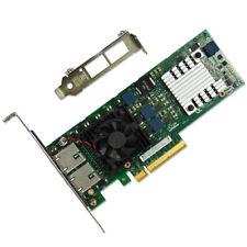 INTEL X520-T2 10GB DUAL PORT ETHERNET SERVER ADAPTER DELL JM42W Free shipping