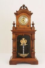 Rare Antique Walnut Water Fountain Automaton Mantel Clock by HAC Germany