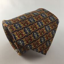 RICHEL ROYAL 60L Red, Blue & Gold Silk Mens Neck Tie Handmade in Spain