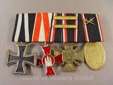 118044: 4er Ordensspange: Eisernes Kreuz, Hanseatenkreuz, Flandernkreuz, Kyffh