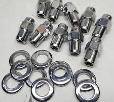 "10 Pack Cragar S/S chrome 7/16"" LEFT Hand thread Mag Wheel lug nuts & washers"