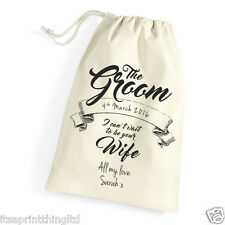 Personalised Gift Bag for The Groom on Wedding Day, Morning Husband to be gift